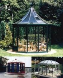 pavillion glaspavillion achteck gartenpavillion. Black Bedroom Furniture Sets. Home Design Ideas